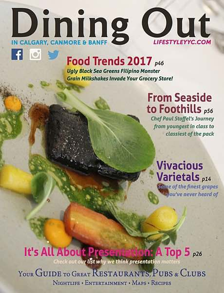 Dining Out Magazine, Winter 2016